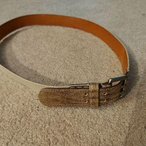 Furla | Off white leather belt, size S